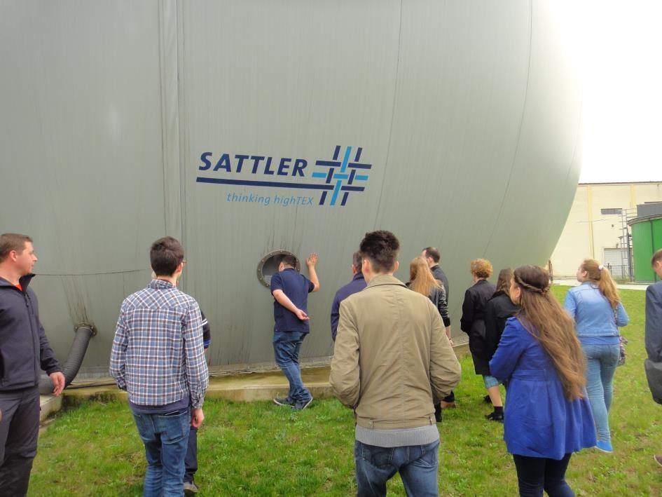 A biogáz tároló tartály megtekintése