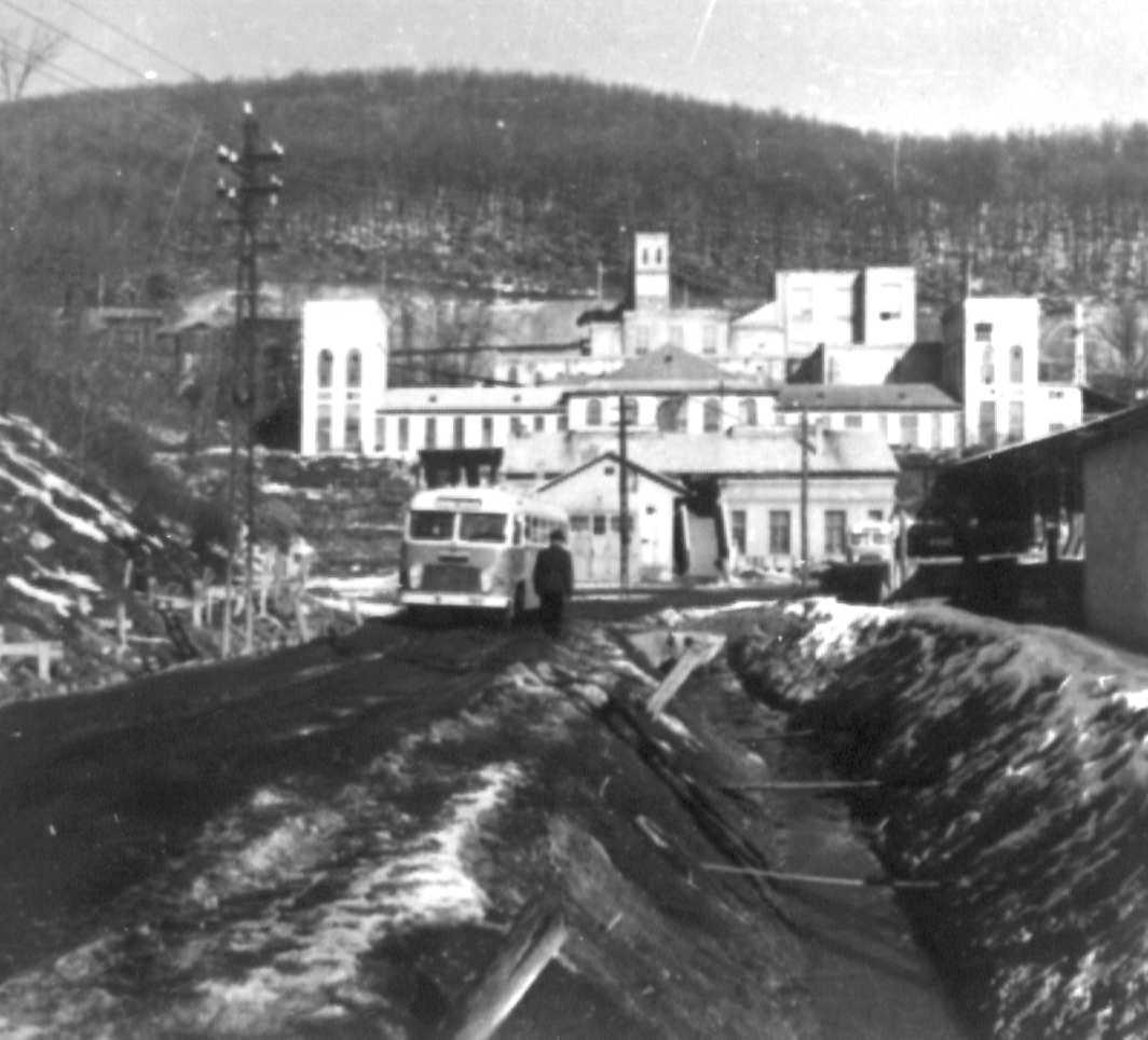 A recski ércelőkészítő üzem az 1970-es években