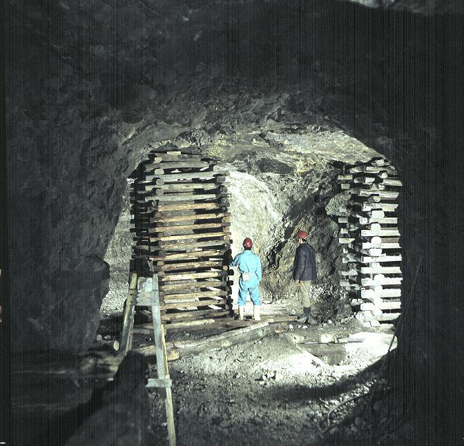 A Lahóca bánya 30. ponti fejtése 1979-ben