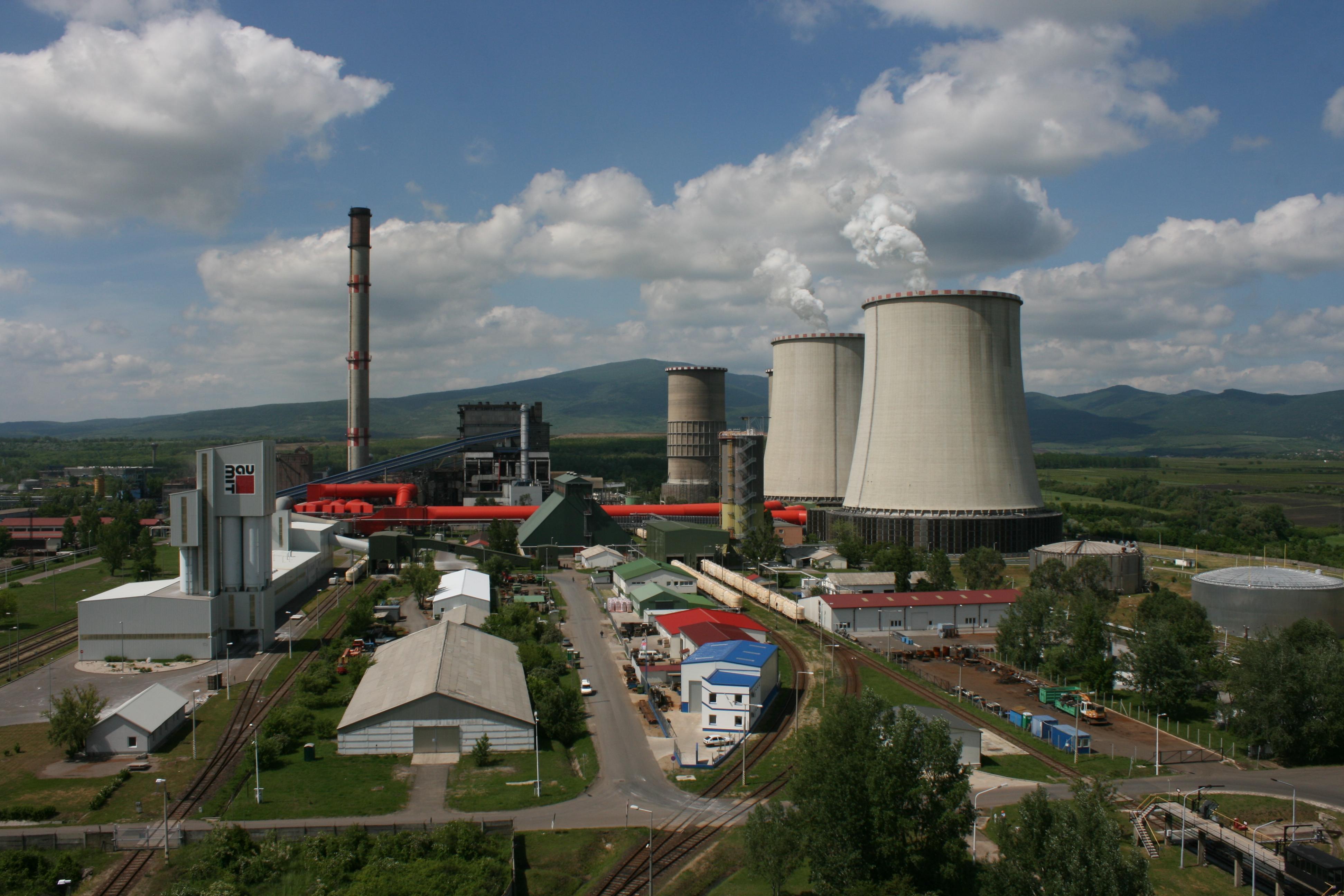 A visontai hőerőmű távlati képe.  Forrás: mert.hu