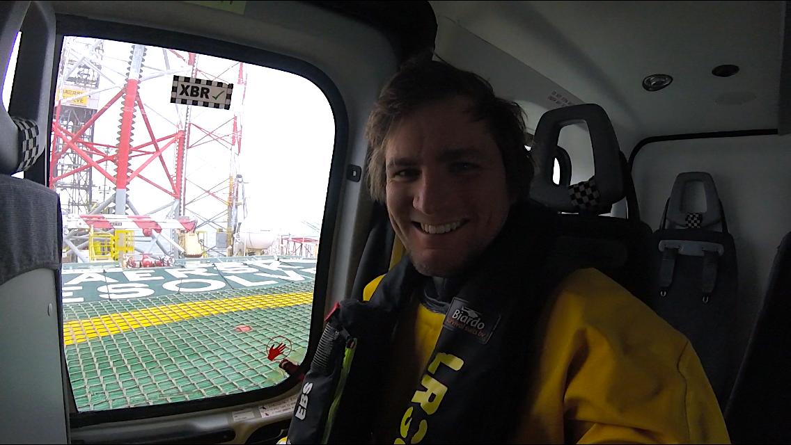 Megérkezés egy északi tengeri fúróplatformra