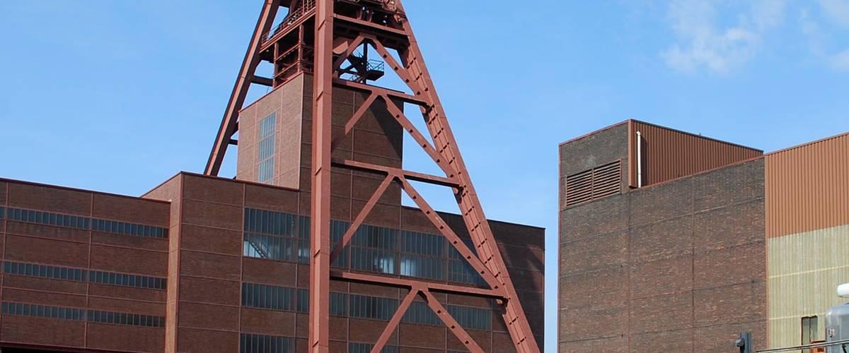 Ruhr vidéki szénbánya akna, ma bányamúzeum